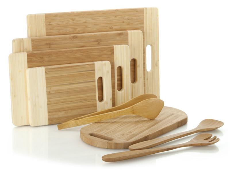 Utensílios de Bambu para Cozinha