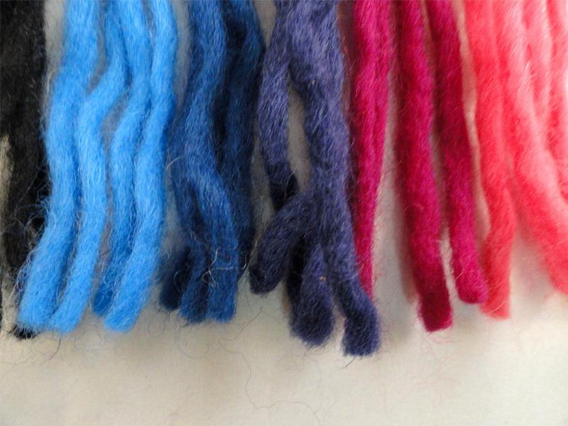 Lã orgânica colorida