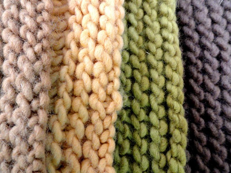 Lã orgânica colorida naturalmente