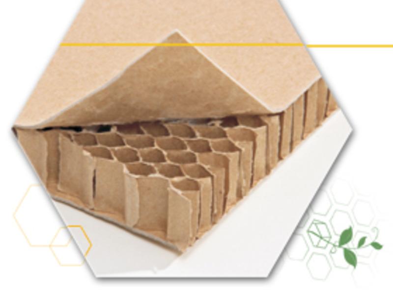 Painéis Colméia de Papel e perfis de papel laminado
