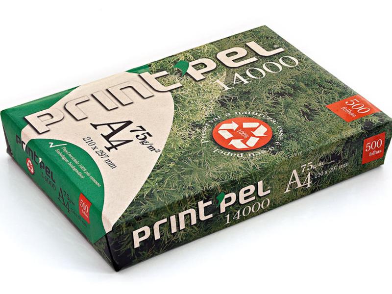 Papel reciclado pós consumo