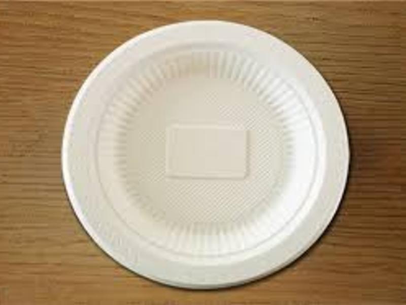 Prato de Bioplástico Biodegradável